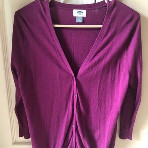 Old Navy Purple Cardigan Sweater